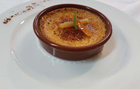 L'Auberge de la pointe, Crème d'Occitanie à la Violette / © Auberge de la Pointe